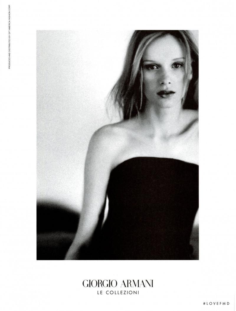 Armani Collezioni advertisement for Autumn/Winter 1999