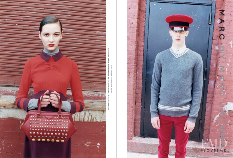 Hailey Hasbrook featured in  the Marc by Marc Jacobs advertisement for Autumn/Winter 2012