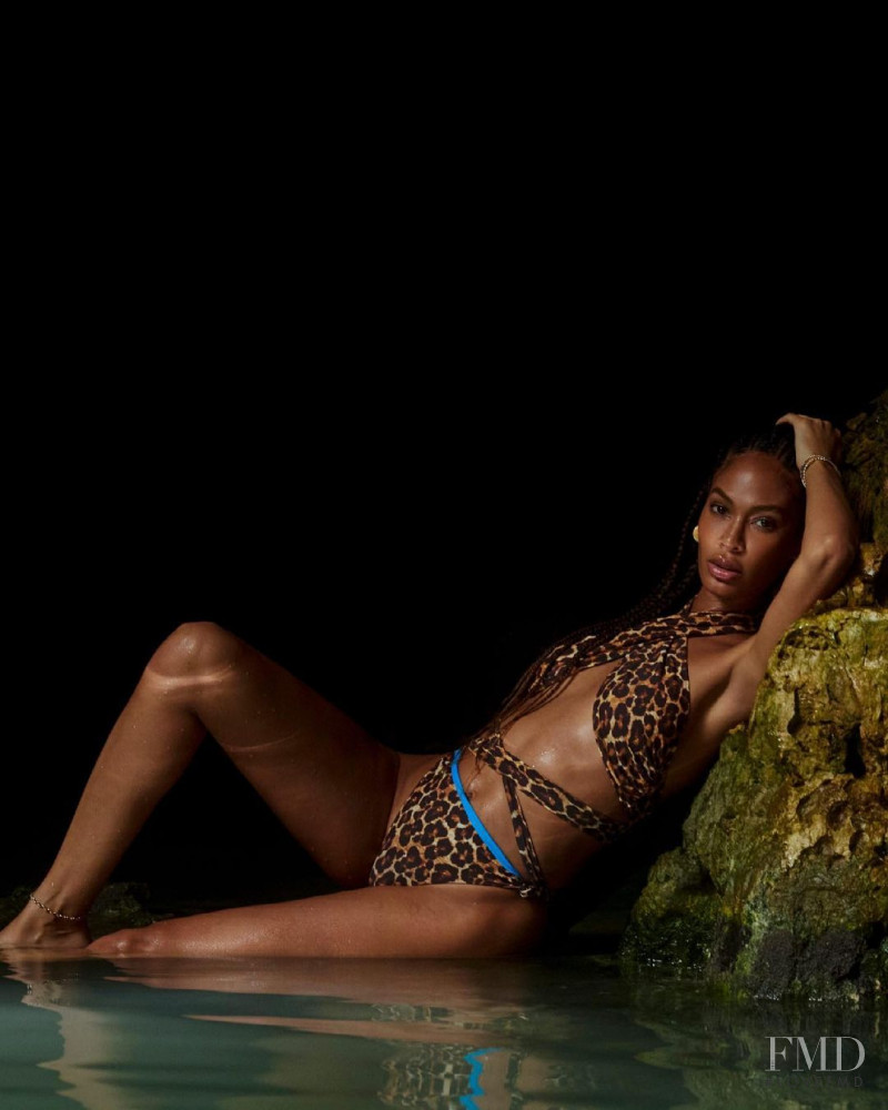Joan Smalls featured in  the REVOLVE Tropic of C X REVOLVE advertisement for Summer 2021
