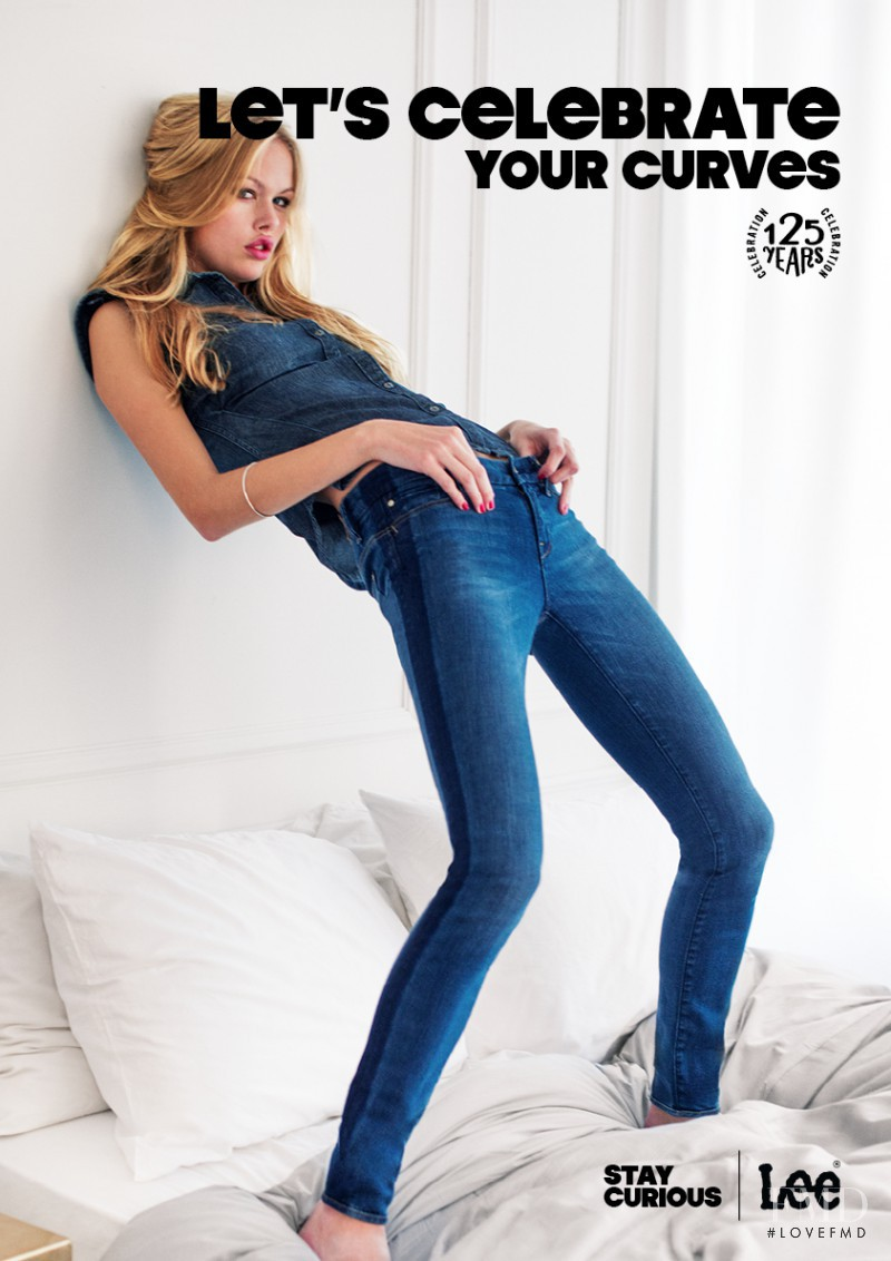 Emma Stern Nielsen featured in  the Lee Jeans advertisement for Spring/Summer 2014