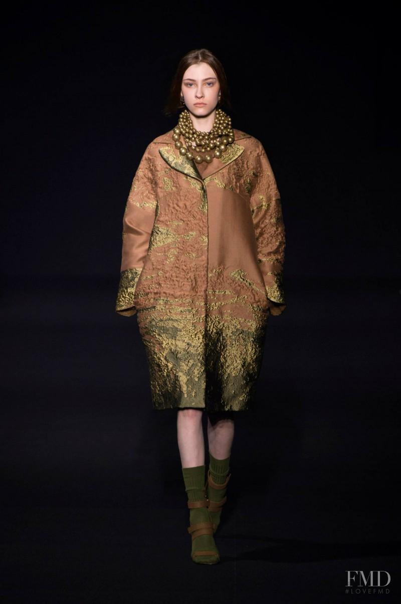 Lera Tribel featured in  the Alberta Ferretti fashion show for Autumn/Winter 2014