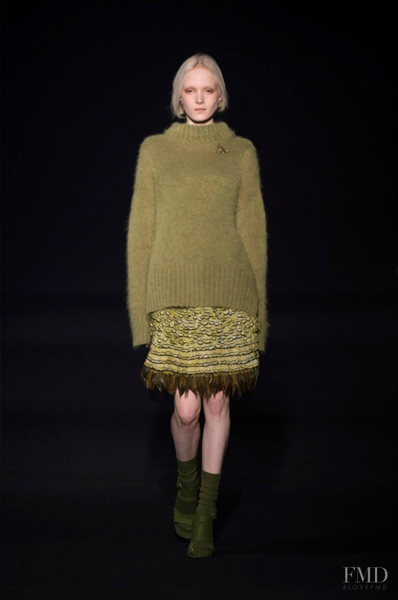 Maja Salamon featured in  the Alberta Ferretti fashion show for Autumn/Winter 2014
