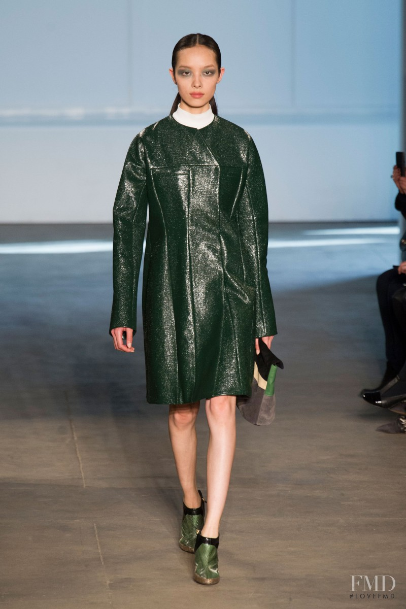 Fei Fei Sun featured in  the Derek Lam fashion show for Autumn/Winter 2014
