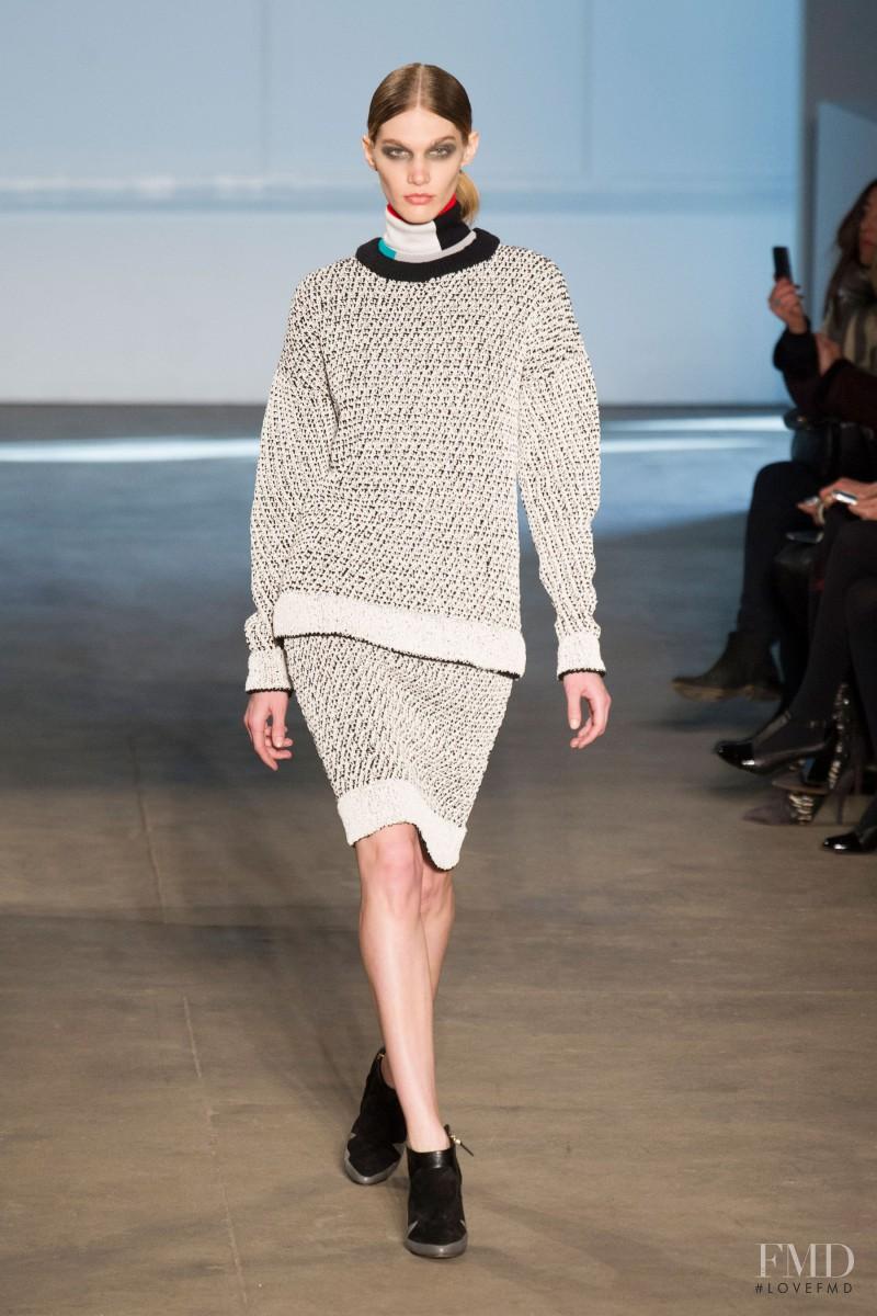 Irina Nikolaeva featured in  the Derek Lam fashion show for Autumn/Winter 2014