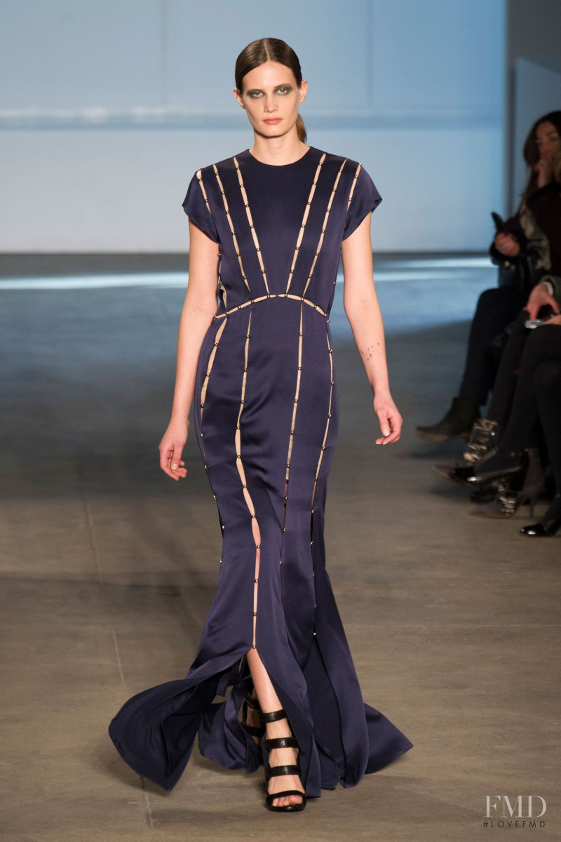 Drake Burnette featured in  the Derek Lam fashion show for Autumn/Winter 2014