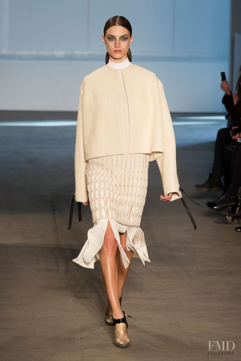 Ronja Furrer featured in  the Derek Lam fashion show for Autumn/Winter 2014