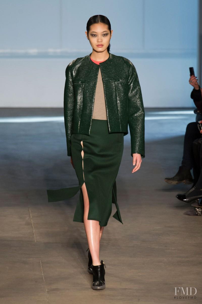 Chiharu Okunugi featured in  the Derek Lam fashion show for Autumn/Winter 2014