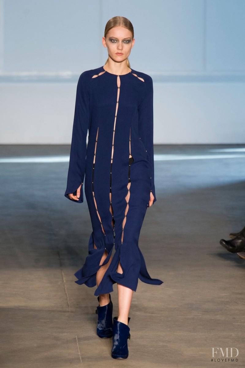 Katerina Ryabinkina featured in  the Derek Lam fashion show for Autumn/Winter 2014