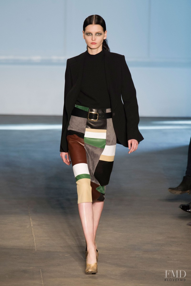 Katlin Aas featured in  the Derek Lam fashion show for Autumn/Winter 2014