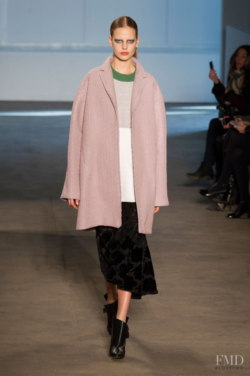 Elisabeth Erm featured in  the Derek Lam fashion show for Autumn/Winter 2014