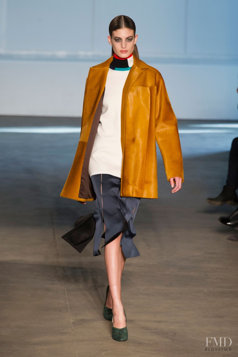 Elodia Prieto featured in  the Derek Lam fashion show for Autumn/Winter 2014
