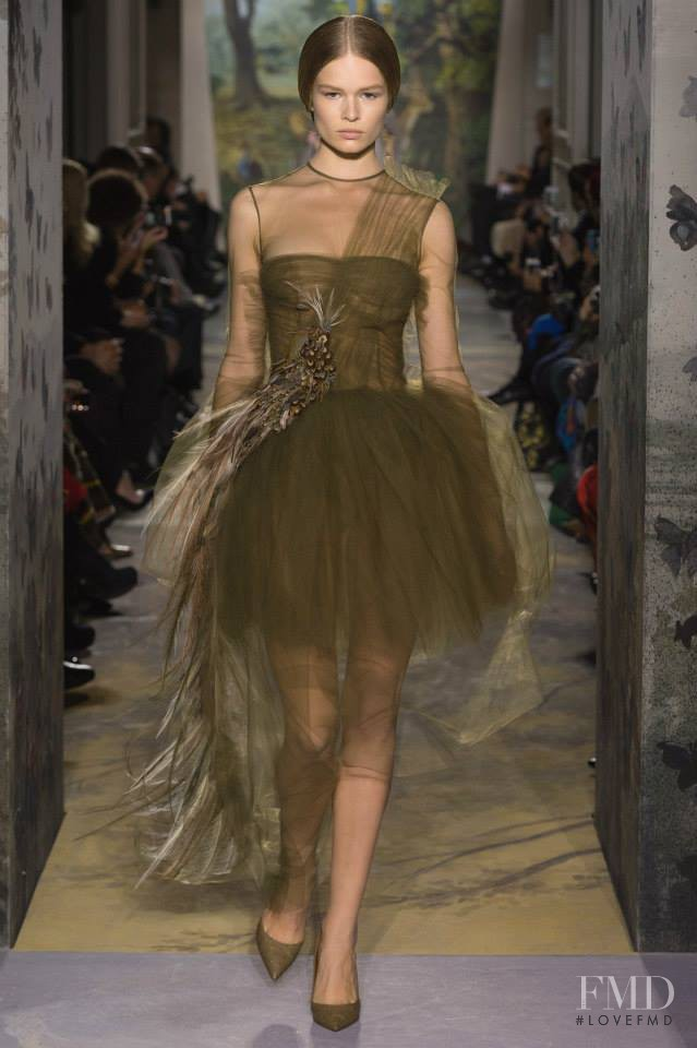 Anna Ewers featured in  the Valentino Couture fashion show for Spring/Summer 2014