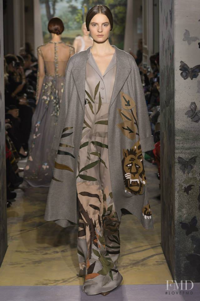 Tilda Lindstam featured in  the Valentino Couture fashion show for Spring/Summer 2014