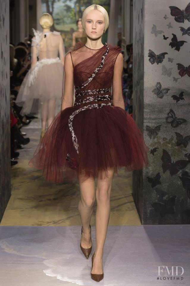 Harleth Kuusik featured in  the Valentino Couture fashion show for Spring/Summer 2014