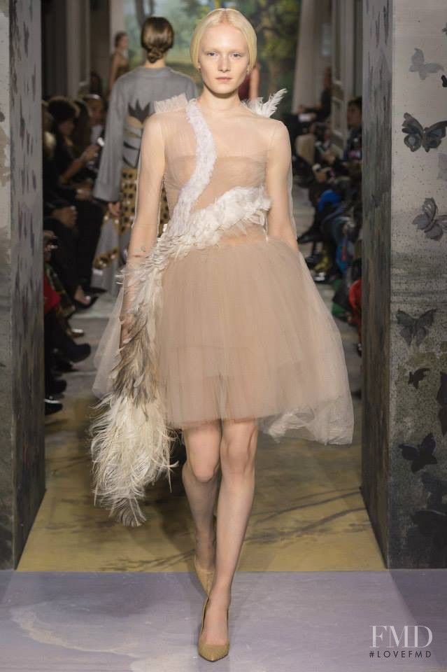 Maja Salamon featured in  the Valentino Couture fashion show for Spring/Summer 2014
