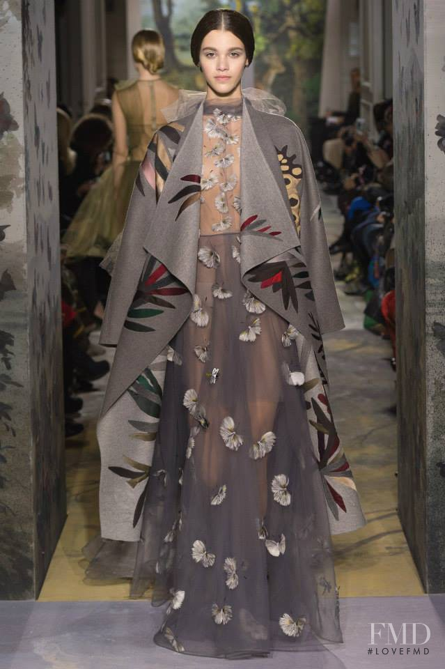 Pauline Hoarau featured in  the Valentino Couture fashion show for Spring/Summer 2014
