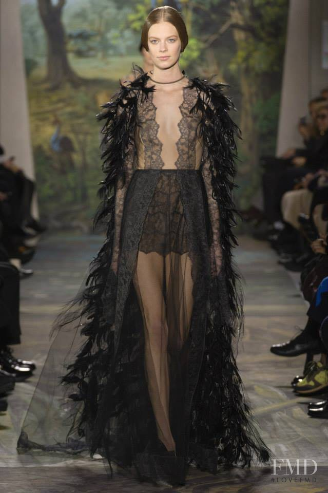 Lexi Boling featured in  the Valentino Couture fashion show for Spring/Summer 2014