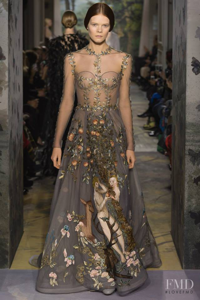 Irina Kravchenko featured in  the Valentino Couture fashion show for Spring/Summer 2014