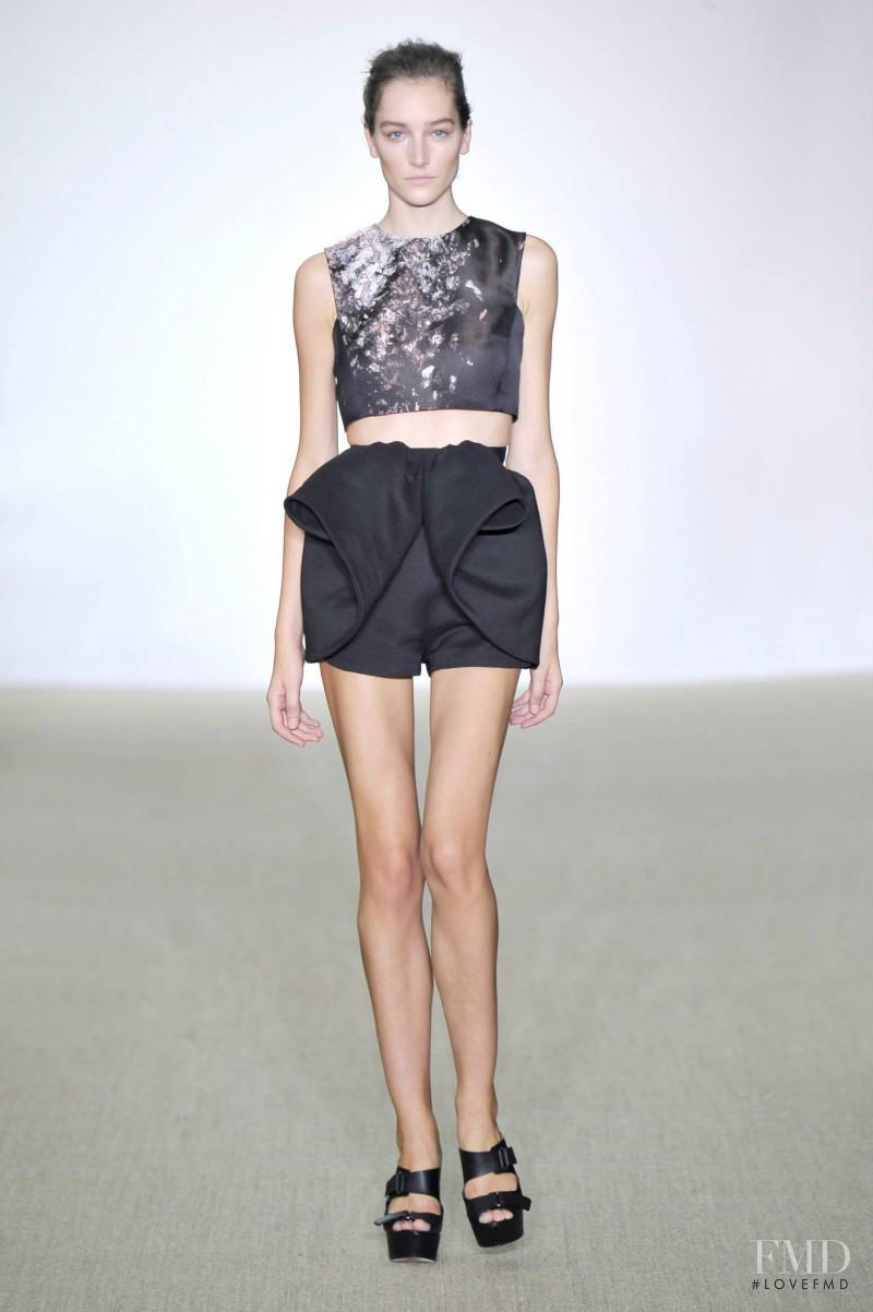 Joséphine Le Tutour featured in  the Giambattista Valli fashion show for Spring/Summer 2014