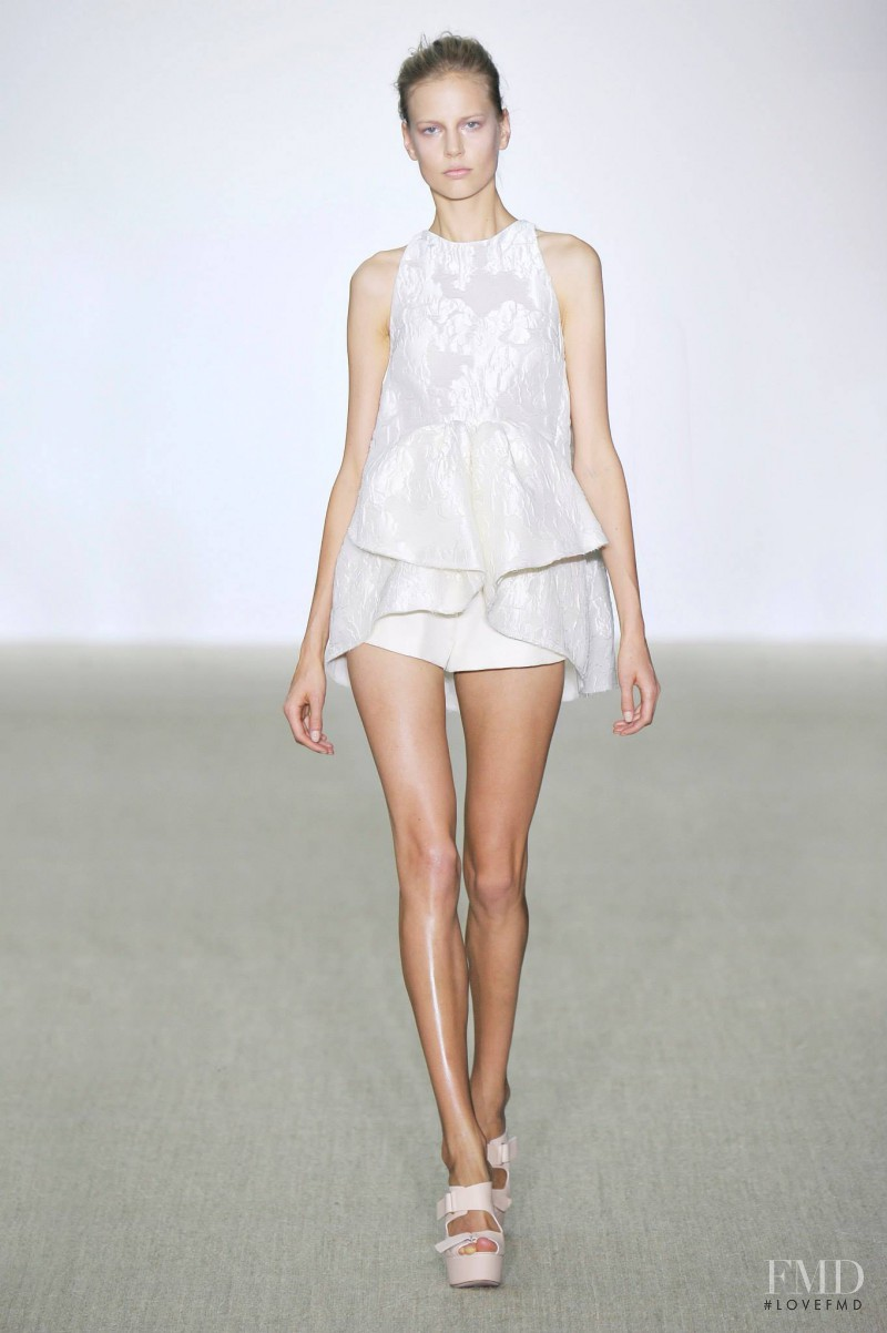 Elisabeth Erm featured in  the Giambattista Valli fashion show for Spring/Summer 2014