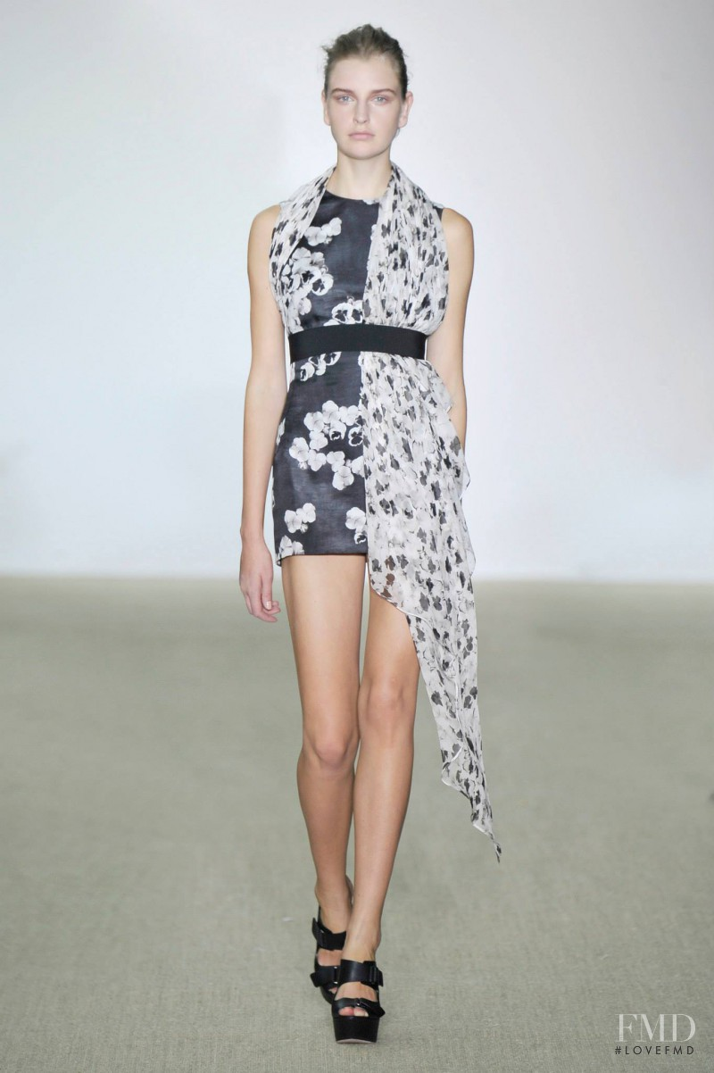 Ieva Palionyte featured in  the Giambattista Valli fashion show for Spring/Summer 2014