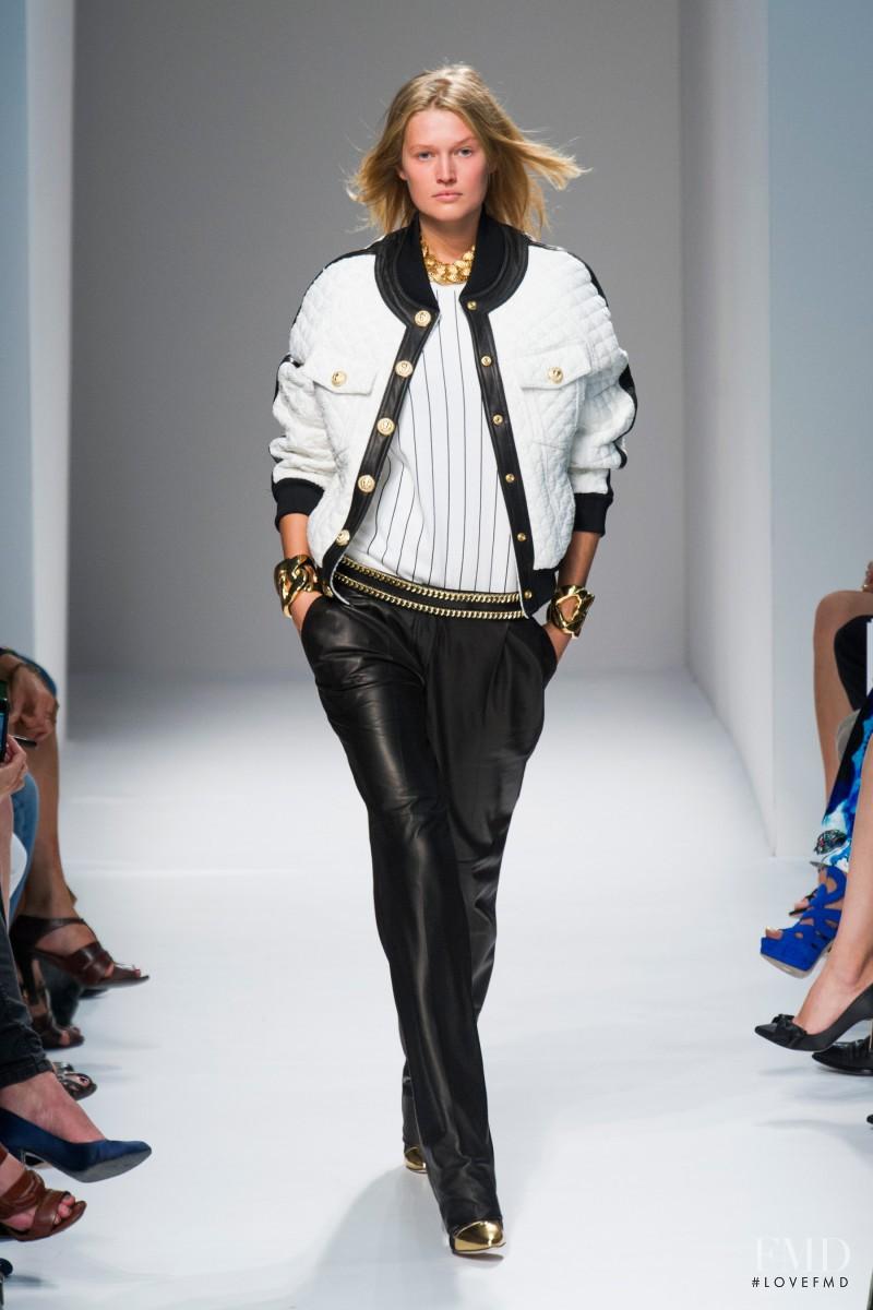 Toni Garrn featured in  the Balmain fashion show for Spring/Summer 2014