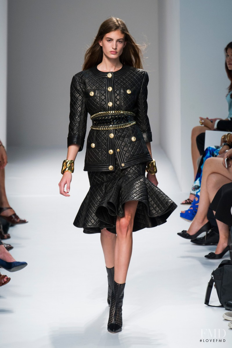 Elodia Prieto featured in  the Balmain fashion show for Spring/Summer 2014