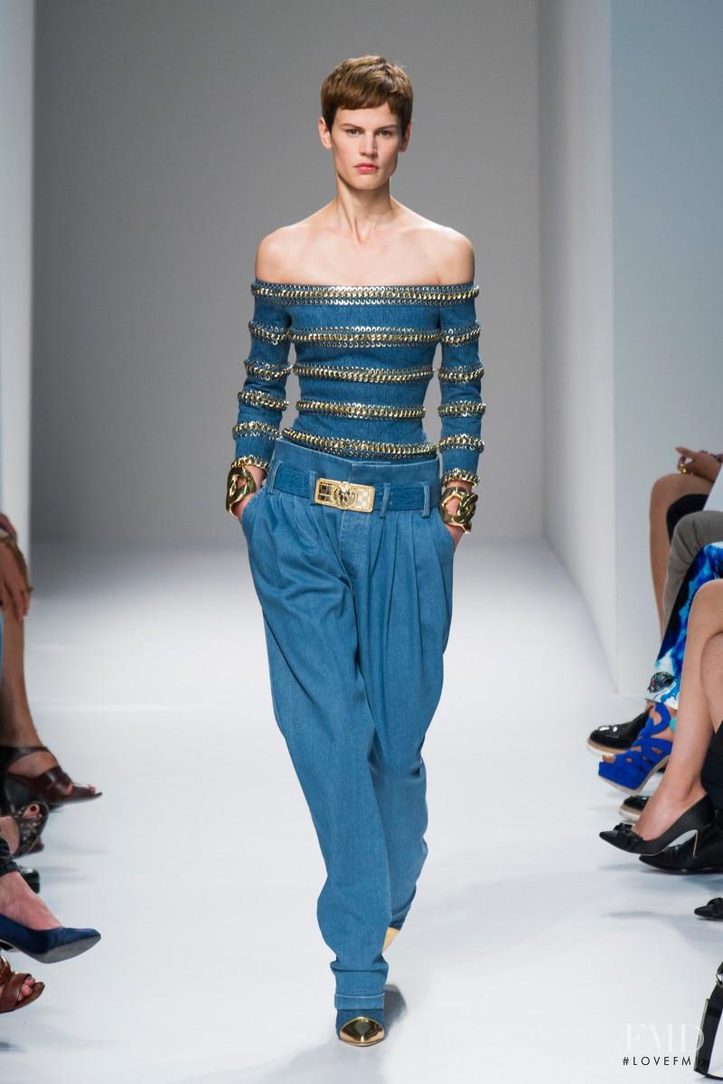 Saskia de Brauw featured in  the Balmain fashion show for Spring/Summer 2014