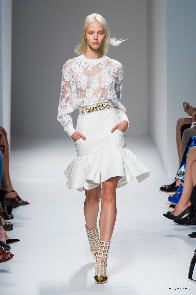 Sasha Luss featured in  the Balmain fashion show for Spring/Summer 2014