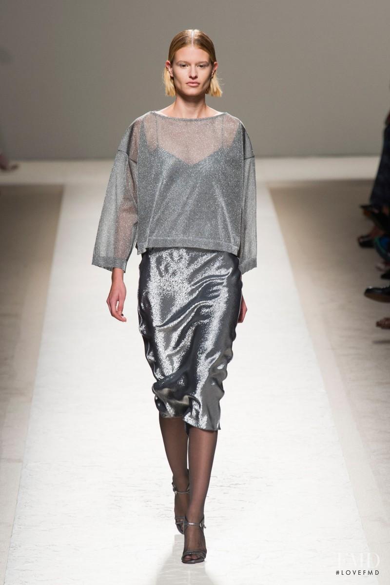 Bara Holotova featured in  the Max Mara fashion show for Spring/Summer 2014