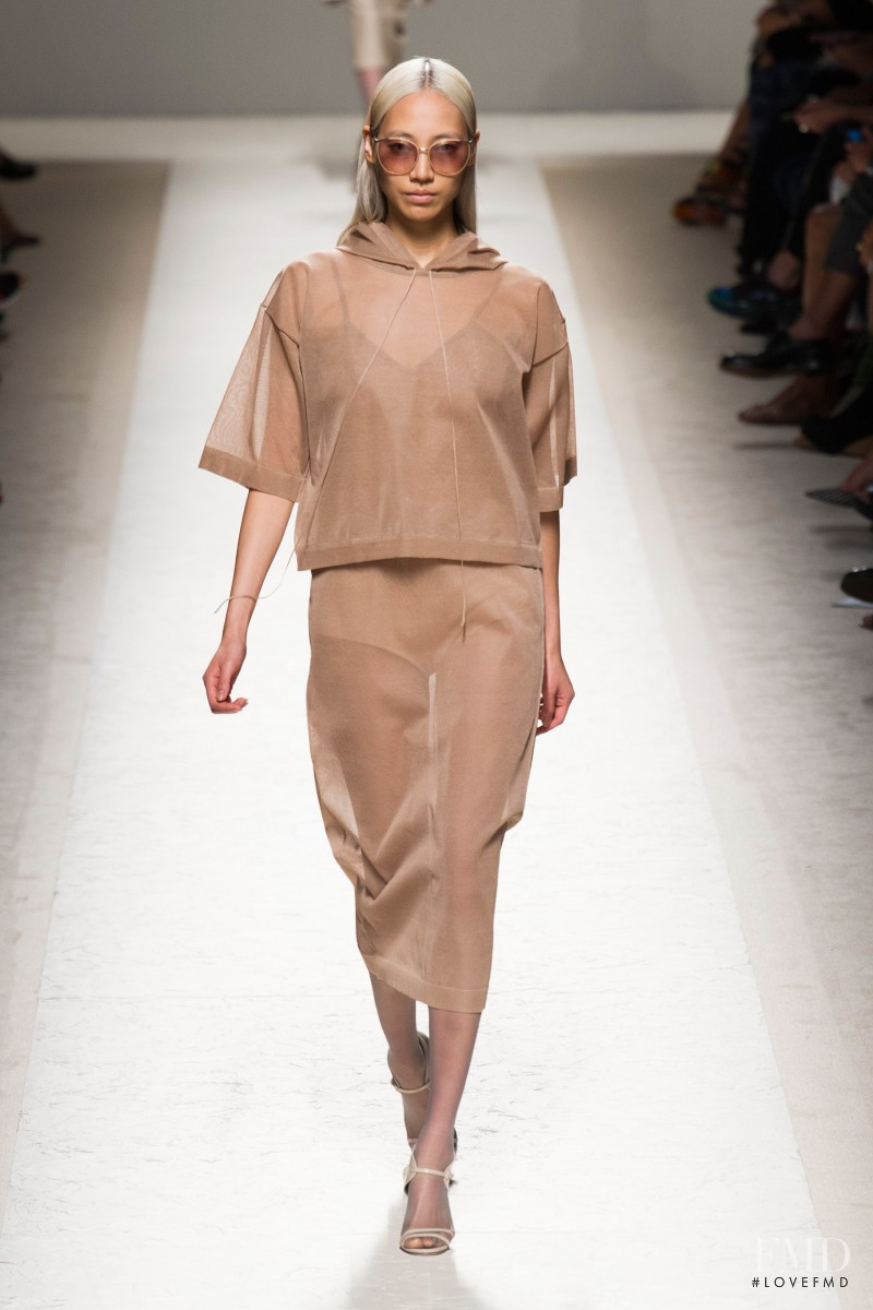 Soo Joo Park featured in  the Max Mara fashion show for Spring/Summer 2014