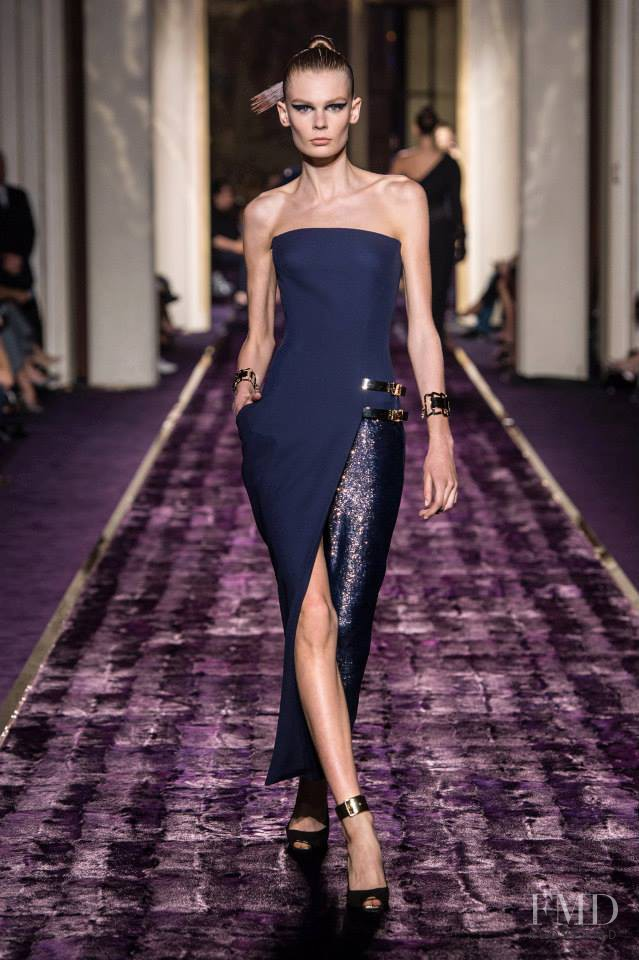 Alexandra Elizabeth Ljadov featured in  the Atelier Versace fashion show for Autumn/Winter 2014