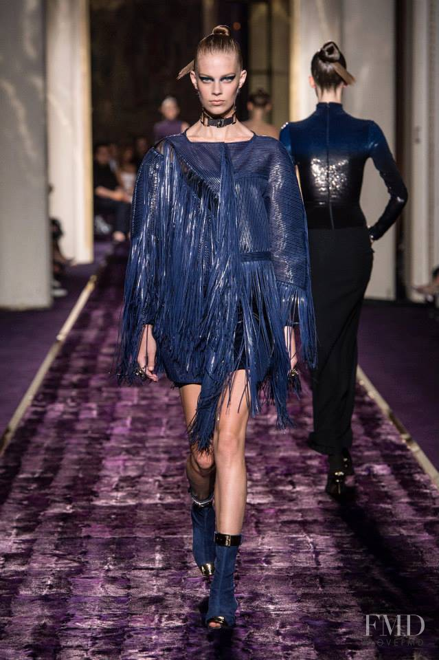 Lexi Boling featured in  the Atelier Versace fashion show for Autumn/Winter 2014