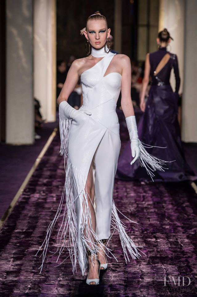 Nastya Sten featured in  the Atelier Versace fashion show for Autumn/Winter 2014