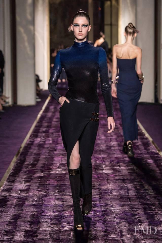 Josephine van Delden featured in  the Atelier Versace fashion show for Autumn/Winter 2014