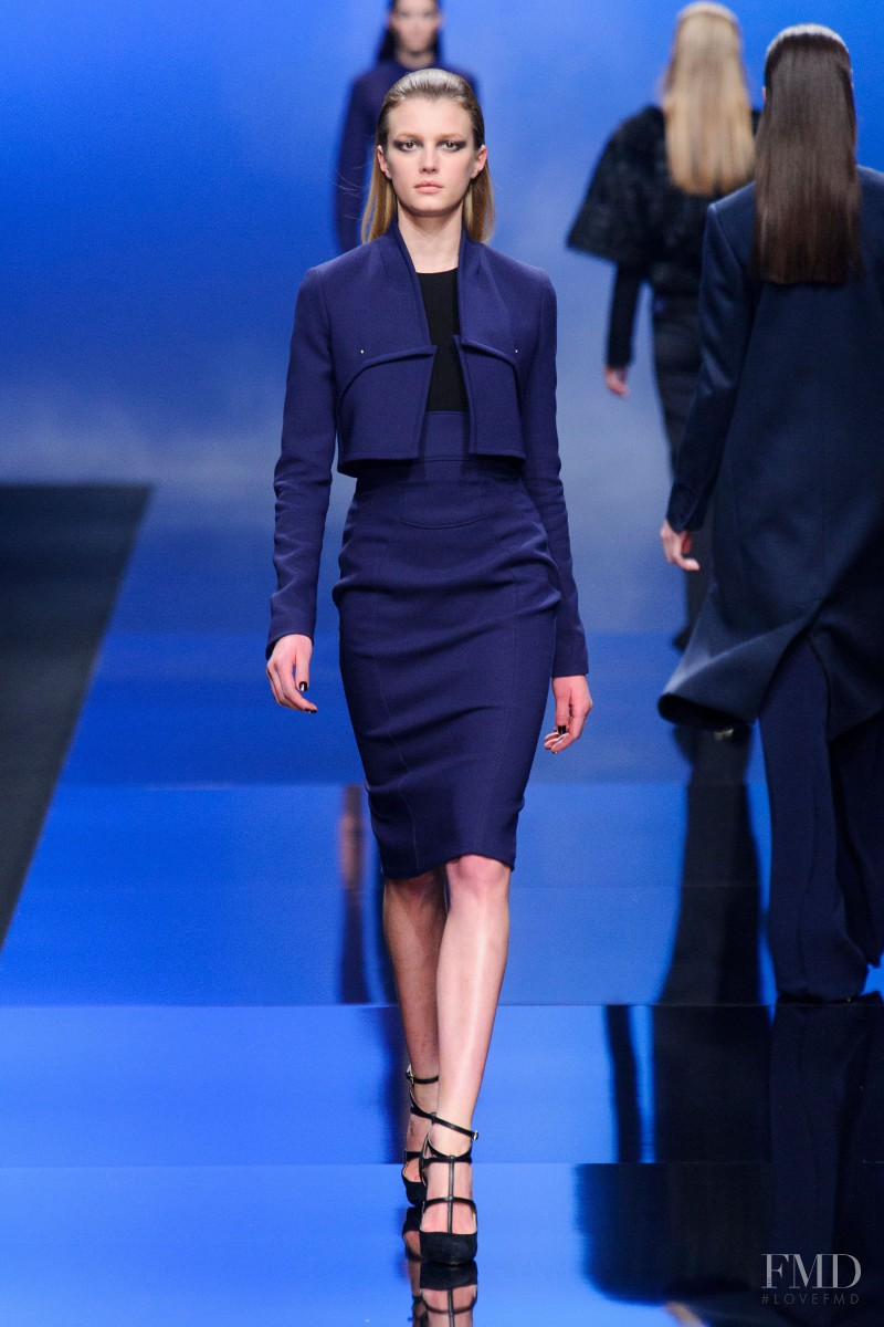 Sigrid Agren featured in  the Elie Saab fashion show for Autumn/Winter 2013