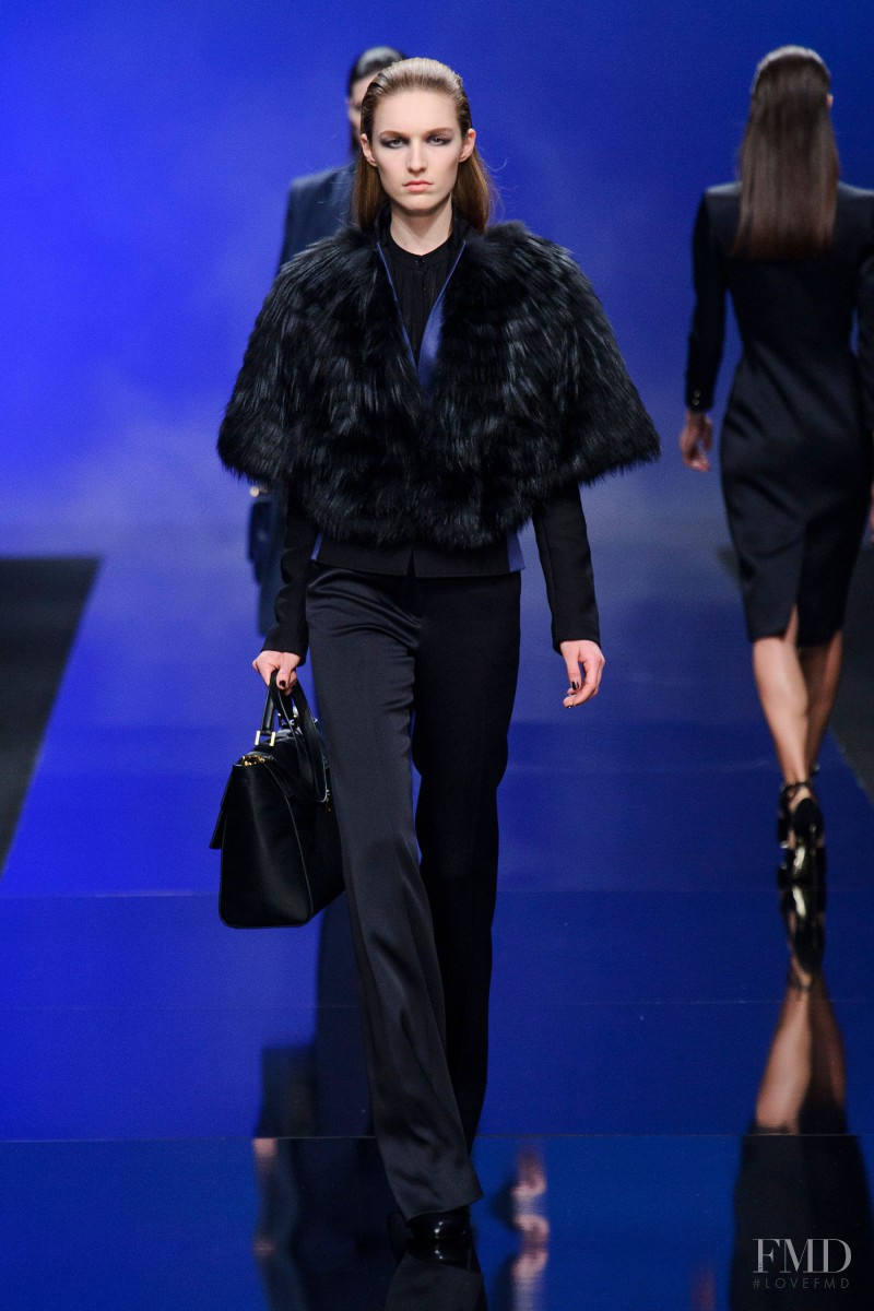 Manuela Frey featured in  the Elie Saab fashion show for Autumn/Winter 2013