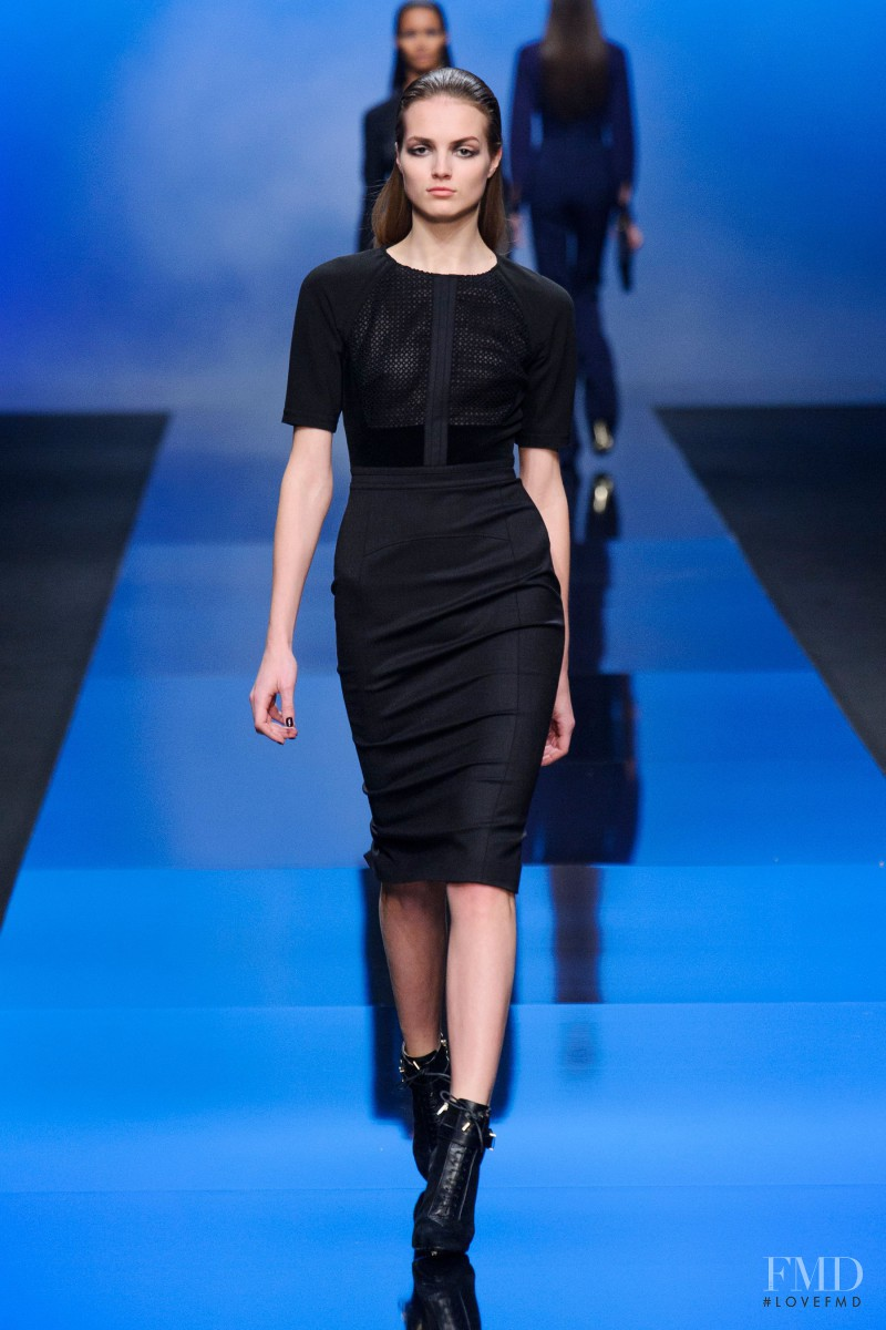 Agne Konciute featured in  the Elie Saab fashion show for Autumn/Winter 2013