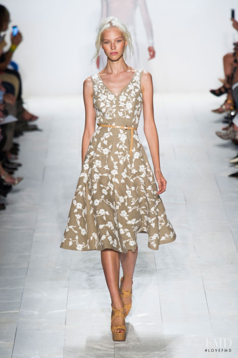 Sasha Luss featured in  the Michael Kors fashion show for Spring/Summer 2014