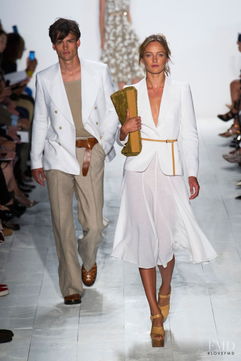 Karmen Pedaru featured in  the Michael Kors fashion show for Spring/Summer 2014