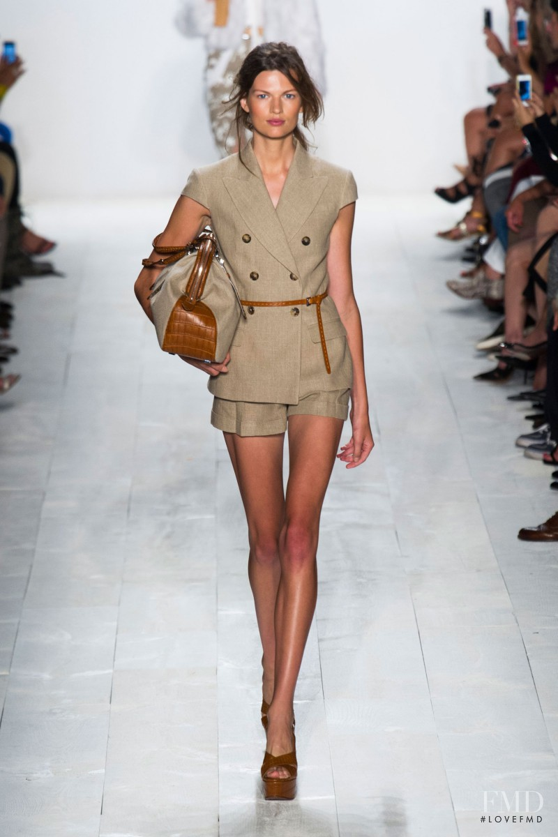 Bette Franke featured in  the Michael Kors fashion show for Spring/Summer 2014