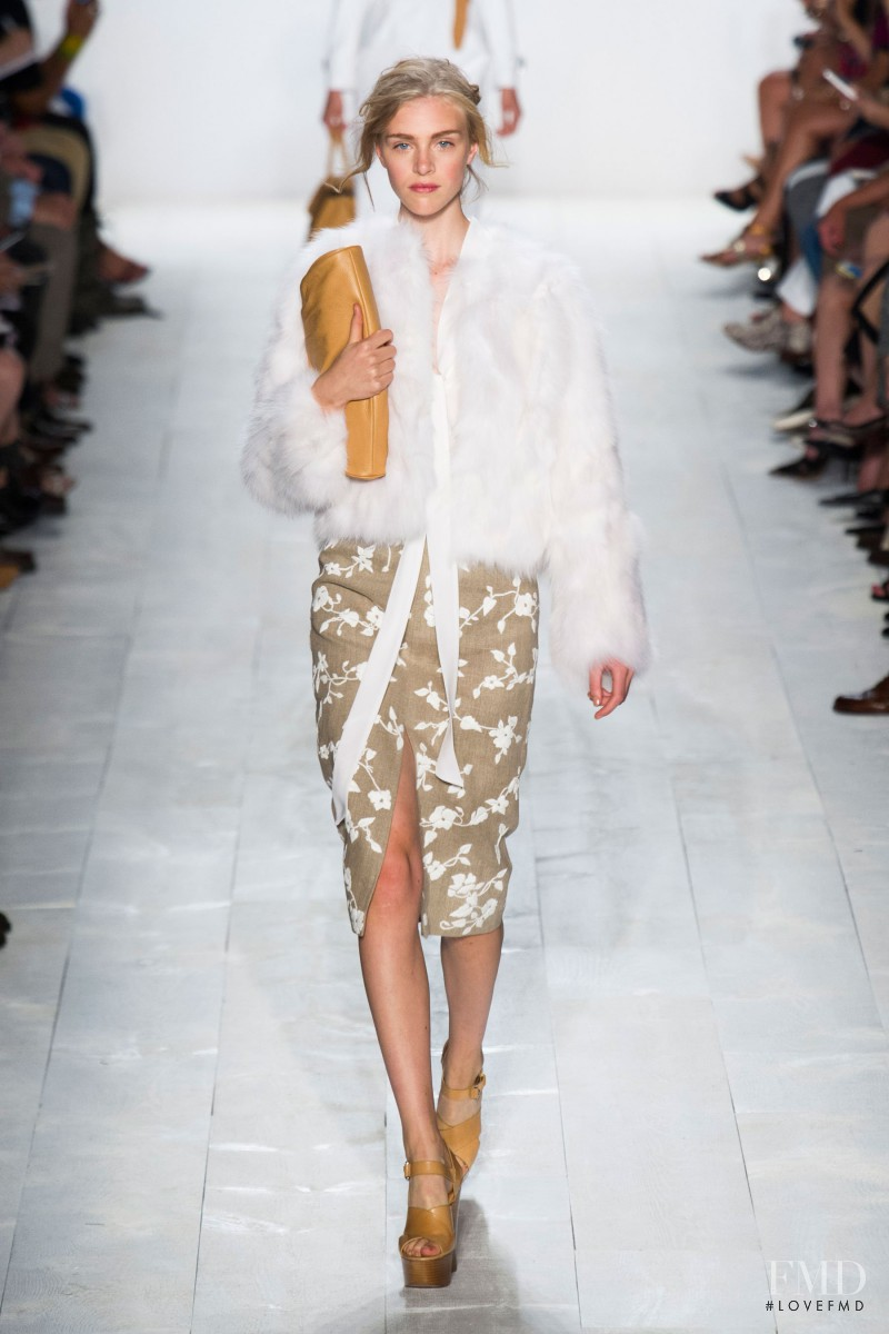 Hedvig Palm featured in  the Michael Kors fashion show for Spring/Summer 2014
