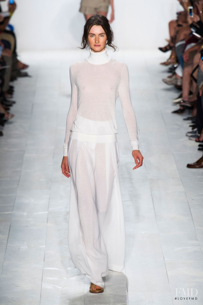 Mackenzie Drazan featured in  the Michael Kors fashion show for Spring/Summer 2014