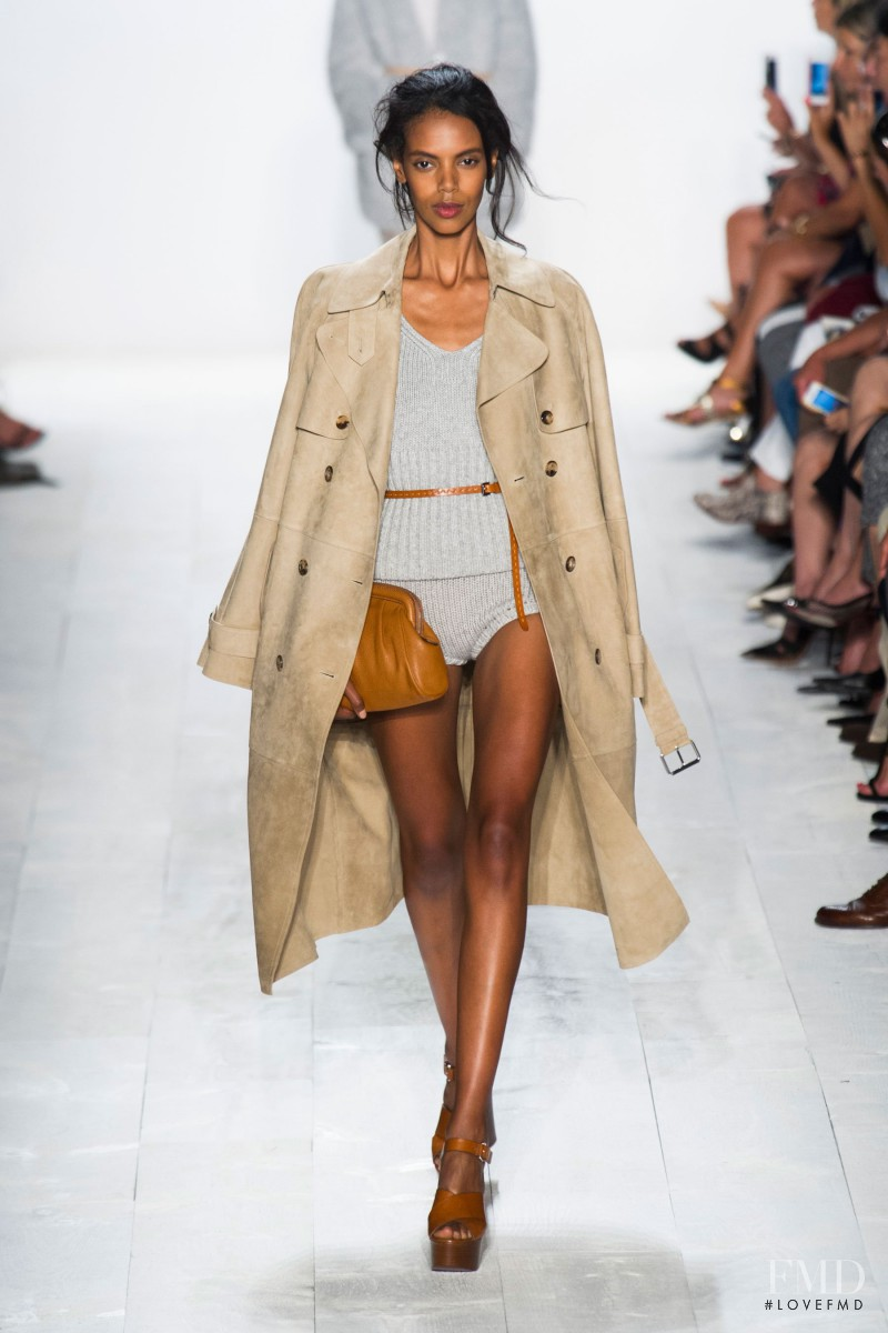 Grace Mahary featured in  the Michael Kors fashion show for Spring/Summer 2014