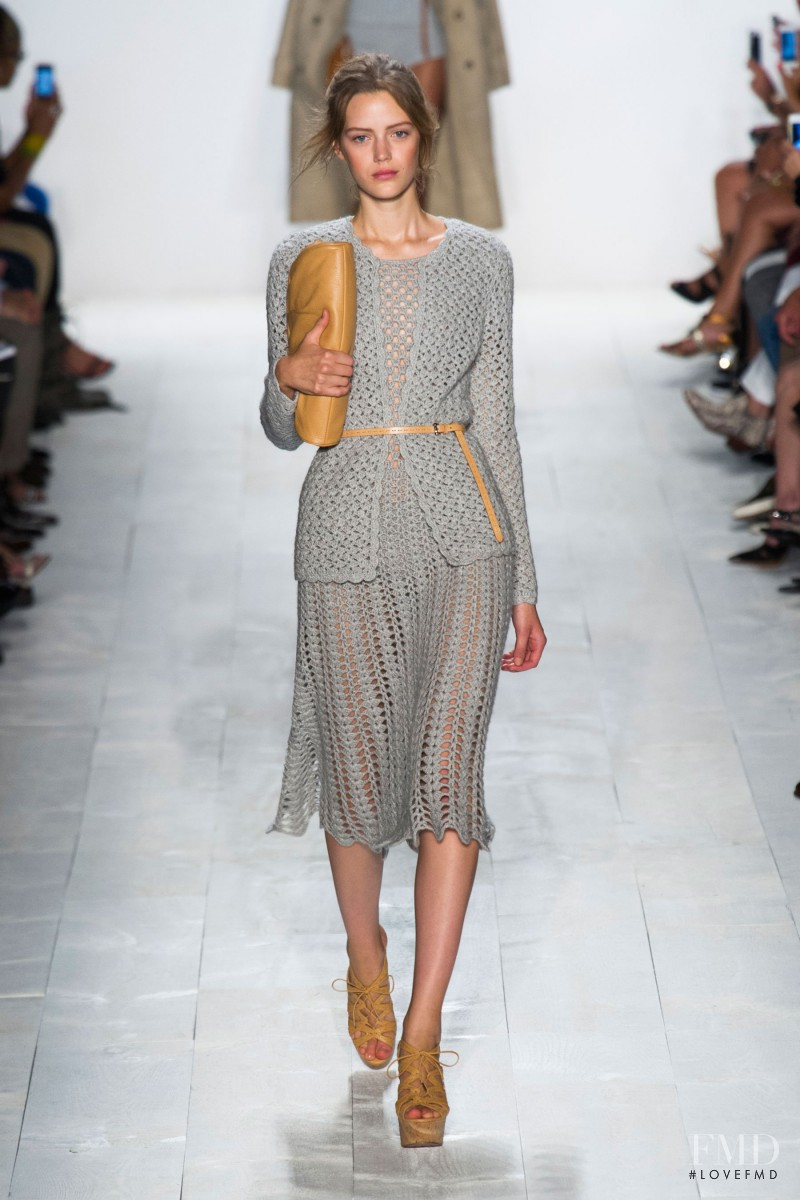 Esther Heesch featured in  the Michael Kors fashion show for Spring/Summer 2014