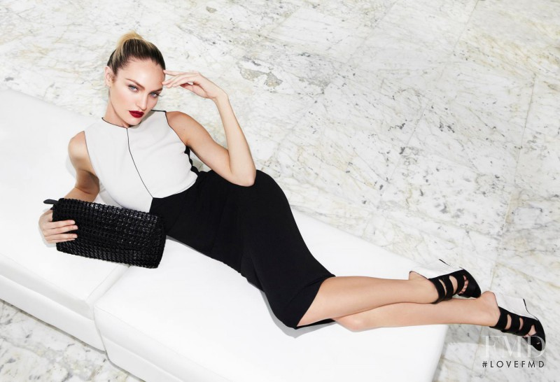 Candice Swanepoel featured in  the Bottletop advertisement for Autumn/Winter 2013
