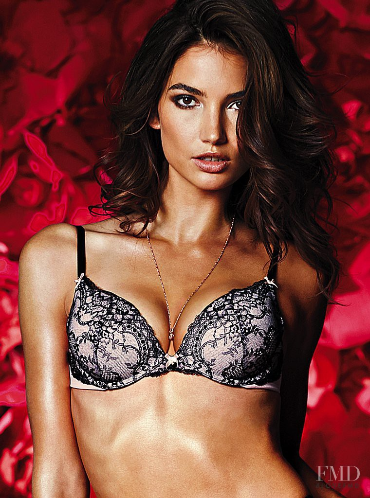 Lily Aldridge featured in  the Victoria\'s Secret Valentine\'s Day catalogue for Spring 2014