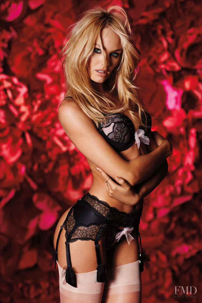 Candice Swanepoel featured in  the Victoria\'s Secret Valentine\'s Day catalogue for Spring 2014