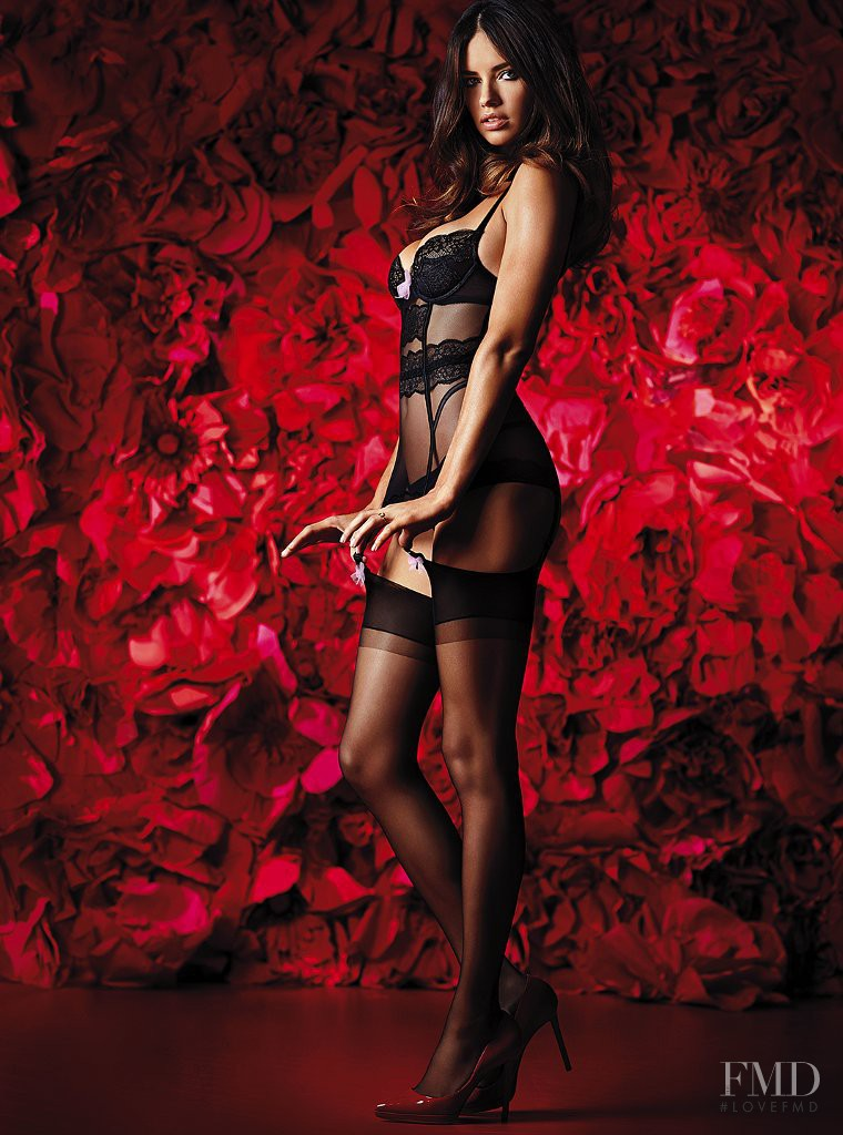 Adriana Lima featured in  the Victoria\'s Secret Valentine\'s Day catalogue for Spring 2014