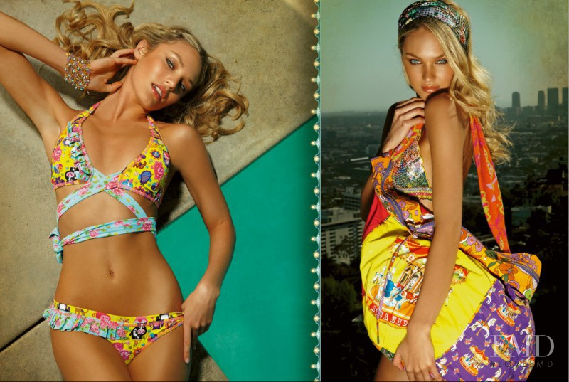 Candice Swanepoel featured in  the Agua Bendita Happy Hour catalogue for Spring/Summer 2011